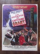In Search of the Castaways, Original French Affiche Poster, Hayley Mills, '62
